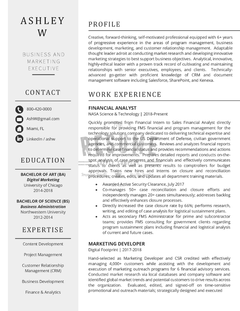 Marketing Executive Sample_Page 1